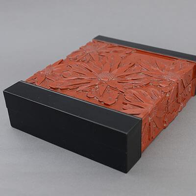 千家菊文硯箱