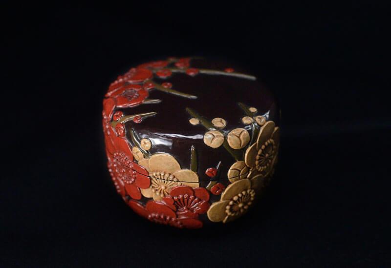紅白梅図平棗